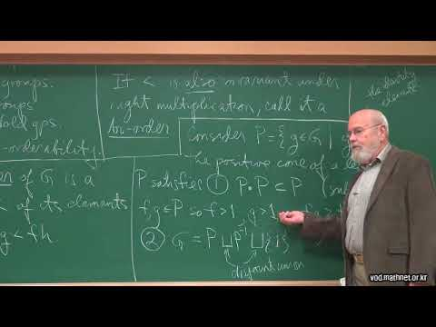 Dale Rolfsen  / Ordering Knot Groups Lecture 1: Introduction to orderable groups.