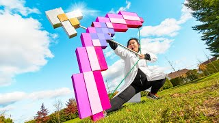 SUPER-SIZED MINECRAFT BOW and ARROW (IN REAL LIFE)