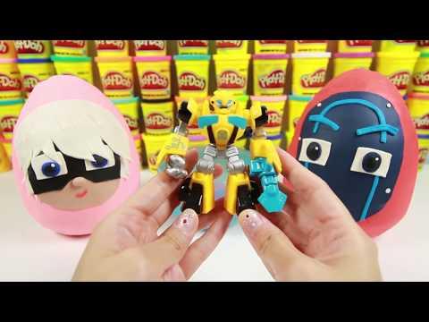 PJ Masks Romeo and Villains Play Doh Surprise Eggs with Paw Patrol Mashem