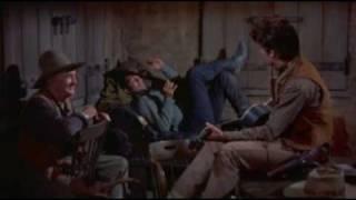 Dean Martin, Ricky Nelson,Walter Brennan and John Wayne in Rio Bravo 1959