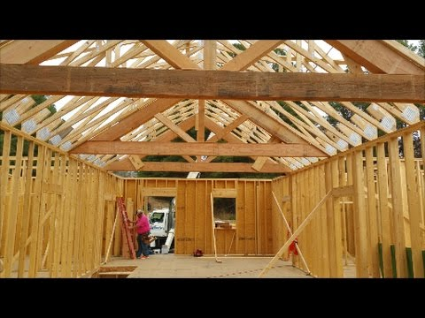Setting Half Ton plus Douglas Fir Trusses Part 2 of 2