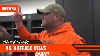 Freddie Kitchens' Victory Speech After Win Over Bills | Cleveland Browns
