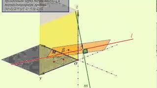 составить уравнение прямой, проходящей через точку М2,3,1) и перпендикулярную прямой