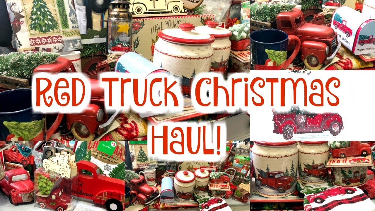 Is Dollar General Open On Christmas.Red Truck Christmas Decor Haul Dollar General Walmart Dollar Tree Family Dollar