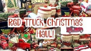 Red Truck Christmas Decor Haul , Dollar General, Walmart, Dollar Tree & Family Dollar