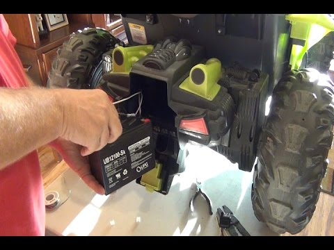 Power Wheels Dune Racer 24 Volt Conversion step by step, using stock