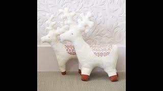 Олени из фетра.  Выкройки. Deer made of felt. Patterns