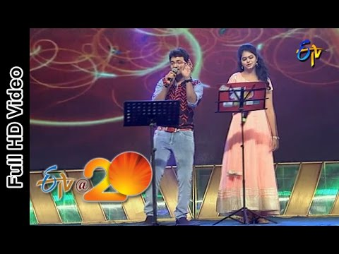 Sri Krishna and Ramya Performs - Chinnadana Neekosam Song in Vijayanagaram ETV @ 20 Celebrations