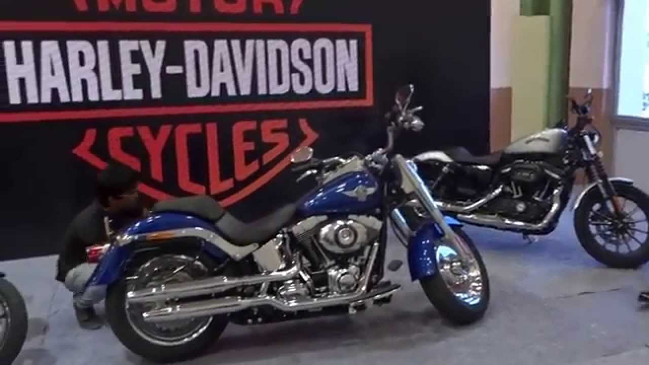harley davidson bikes in chennai india camera expo 2015 - youtube