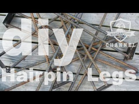 How To Make Hairpin Legs From Rebar | Welding 101
