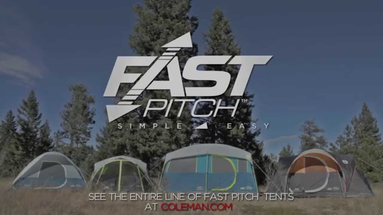 & Coleman® Fast Pitch™ Tents - YouTube