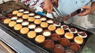 紅豆餅, 車輪餅 - 台灣街頭美食 (Red Bean Wheel Cake - Taiwanese Street Food , Tainan)