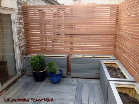 Window box out of composite deck boards outdoor wpc flower for Outdoor decking boards