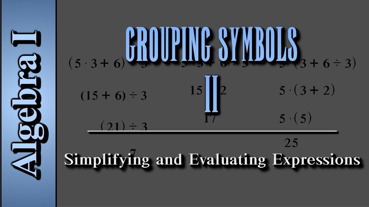 Algebra i grouping symbols level 2 of 2 simplifying and algebra i grouping symbols level 2 of 2 simplifying and evaluating expressions biocorpaavc Choice Image