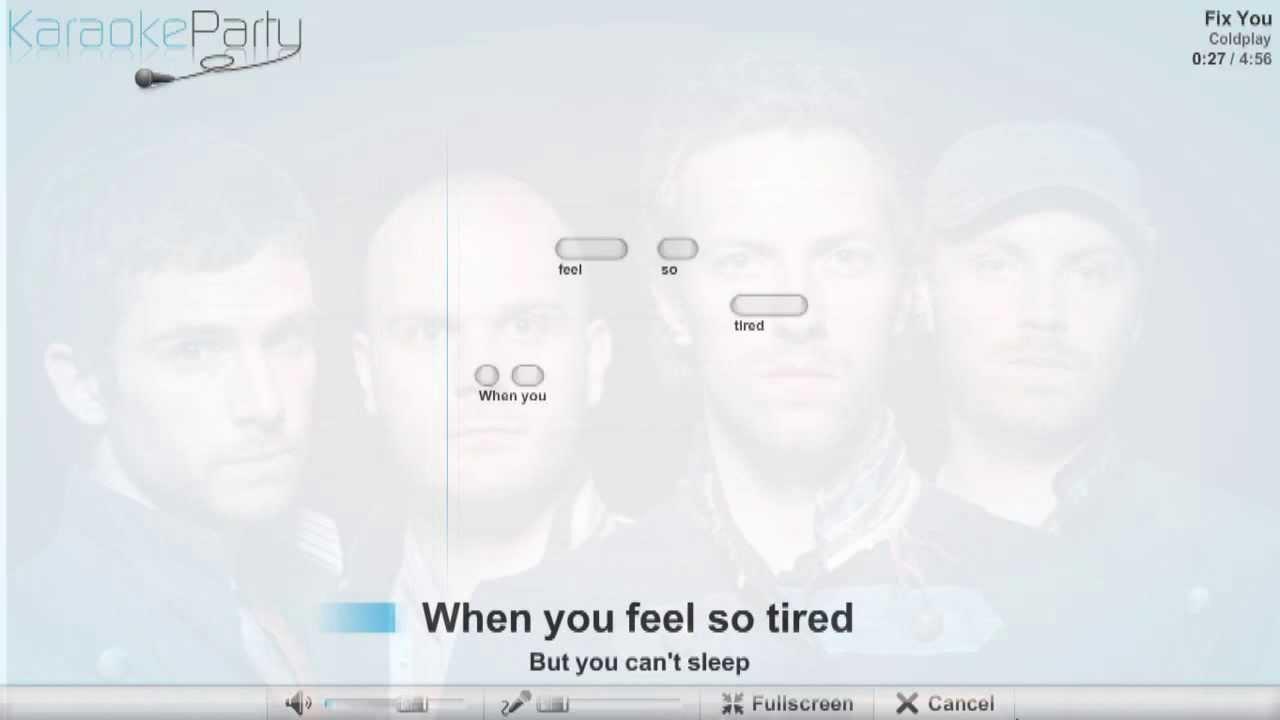 Coldplay - Fix You - karaoke - YouTube