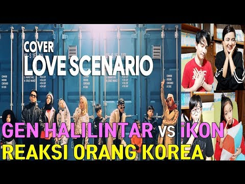 Reaksi Orang Korea - Gen Halilintar Love Scenario IKON (Korean Reaction)