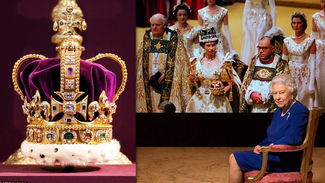 The Queen is reunited with St Edward's Crown for the first ...
