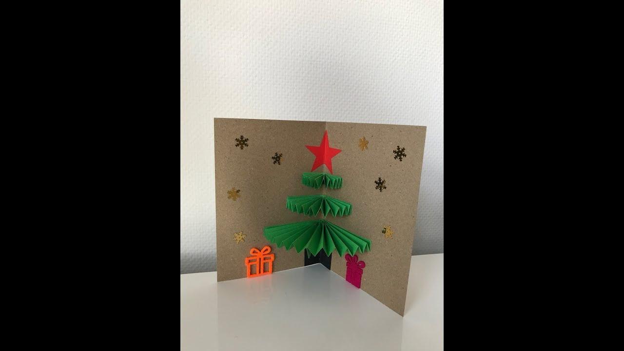 Объемная открытка на новый год елка шарики хлопушки, картинки