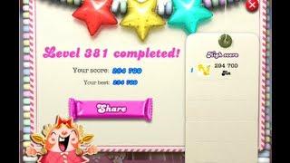 Candy Crush Saga Level 381 ★★★ NO BOOSTER
