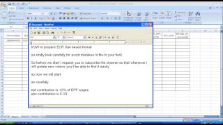 How to prepare Text file for UAN based NEW ECR format