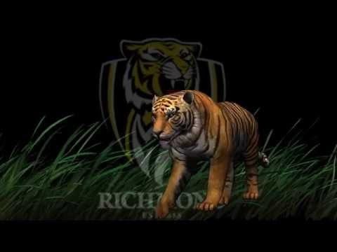 Richmond Tigers theme song with live Tiger
