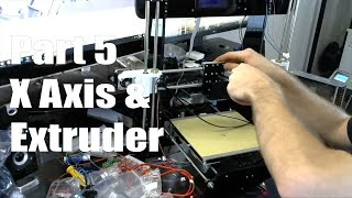 anet a8 3d printer build guide part 5 x axis extruder