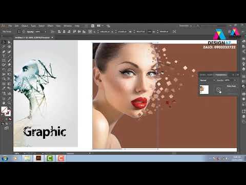 Chữ nghệ thuật, hiệu ứng chỉnh sửa ảnh, học thiết kế đồ họa, Học illustrator