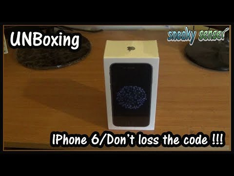 "UNBoxing IPhone 6 / ""DON'T LOSS THE CODES"" !!!"