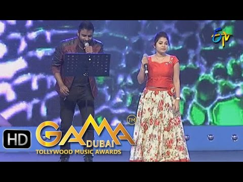 Kannu Moosthe  Song - Hemachandra,Damini Performance in ETV GAMA Music Awards 2015 - 20th March 2016