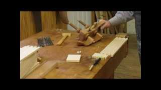 Curved Blockfont  Dressing Table   Plow Plane Cutting Grove Step 21