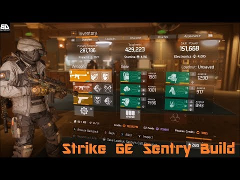 The Division 1.8 - Classified Sentry Build - Strike Global Event Build