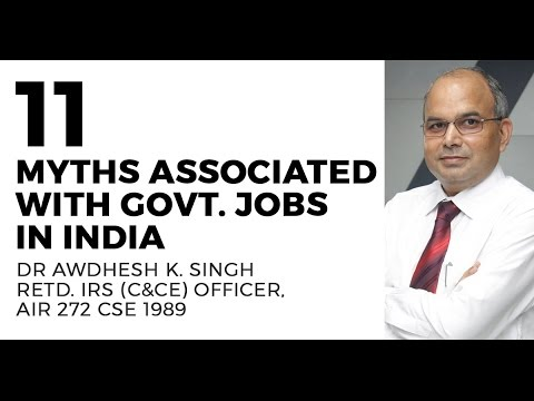 Download Youtube: Myths associated with Govt. Jobs in India {IAS, IRS, IES, CAPF} - Dr Awdhesh Singh, IRS