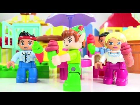 Đồ Chơi Lego Quán Kem Của Chú Heo Sữa  Kết Hợp 3 Bộ Lego Cướp  Biển Jake Peppa Pig Lego Duplo Gocery