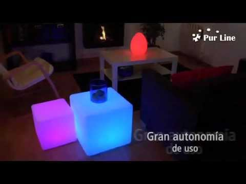 Cubos de led purline sin cables para piscinas jardines o for Luces para jardin sin cables