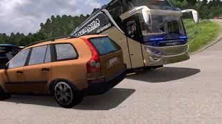 insiden bus pandawa 87 chasis scania k410 di stinjau lauik #ets2
