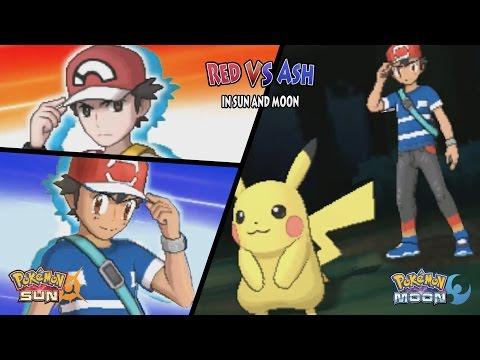 Pokemon Sun and Moon: Alola Red Vs Alola Ash (Ash Vs Red Kanto Battle)