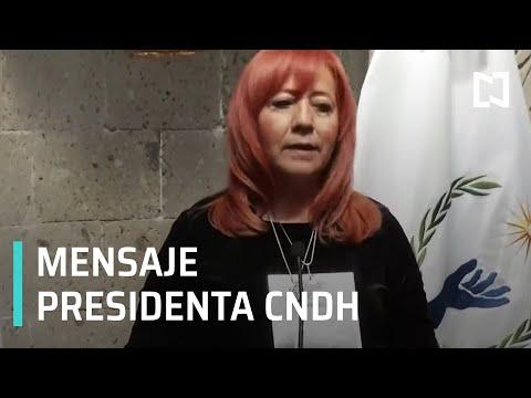Mensaje de la nueva titular de la CNDH