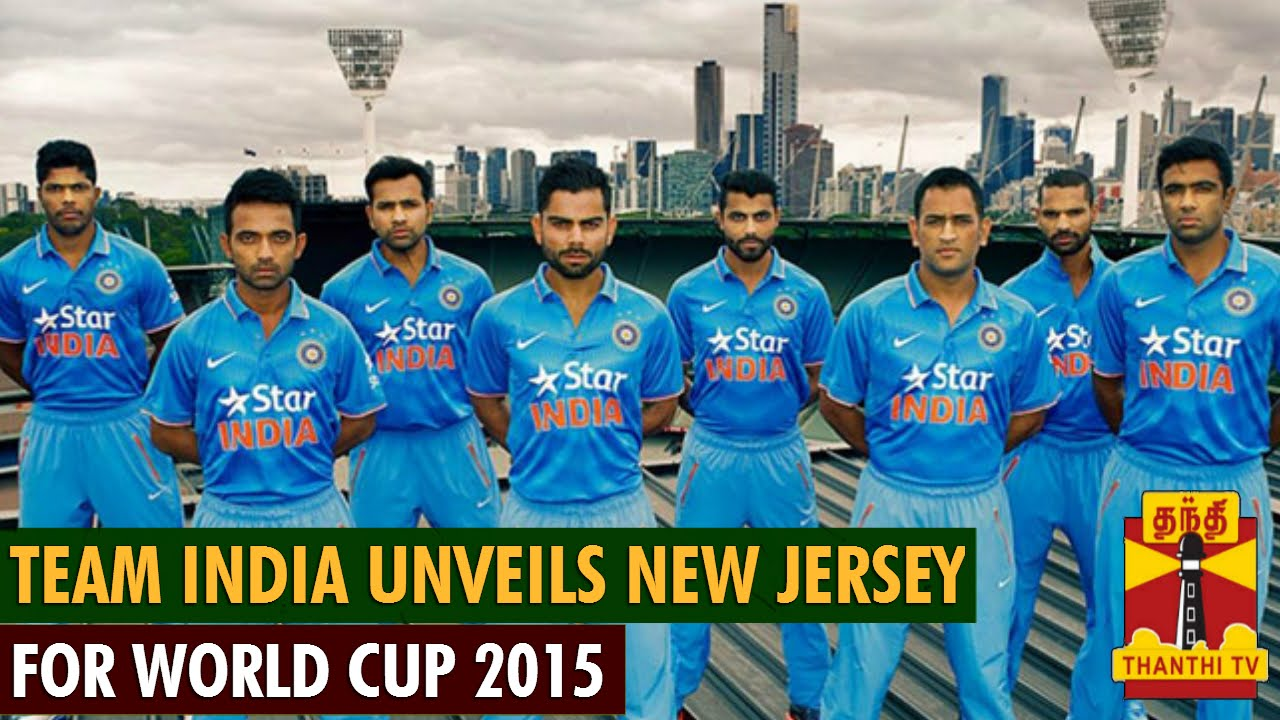 Photos Environment Friendly Jerseys For Team India: Team India Unveils New Jersey For World Cup 2015
