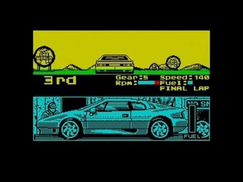 Lotus Turbo Challenge Longplay (ZX Spectrum)