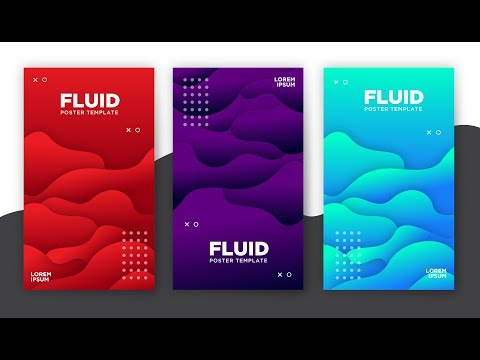 Fluid Poster Templates | Illustrator Tutorials | TL thumbnail