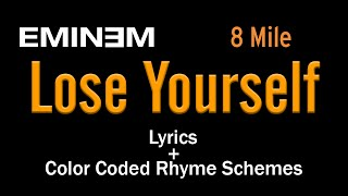 Eminem - Lose Yourself - [Lyric Video & Colored Rhyme Scheme]