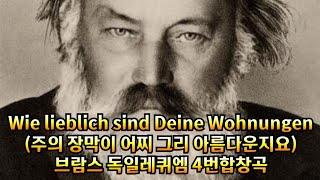 Wie lieblich sind Deine Wohnungen(주의 장막이 어찌 그리 아름다운지요)-J.Brahms(독일 레퀴엠중 4악장)