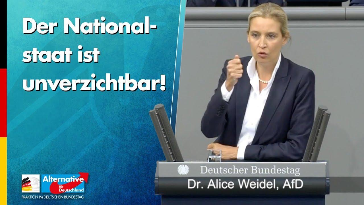 Alice Weidel: Der Nationalstaat ist unverzichtbar!