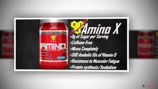 Amino X от BSN.(AMINO X способствует: усилению синтеза белков (анаболизму) улучшению ресинтеза гликогена увеличению чувствит..., 2014-04-12T07:13:24.000Z)