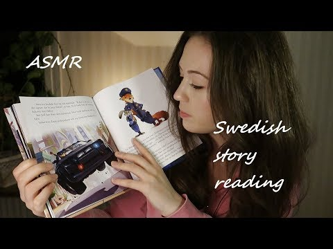 ASMR Swedish whispering, reading a story for you