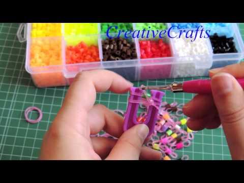 9e2d014c0878 Repeat Como hacer una pulsera de gomitas con Hama beads SIN TELAR ...