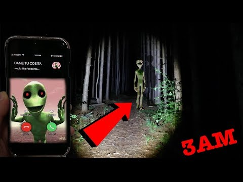 CALLING DAME TU COSITA ON FACETIME AT 3AM IN SLENDERMAN FOREST | I FOUND DAME TU COSITA IN A FOREST!