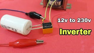 12v to 230v Inverter using fan capacitor