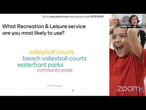 Virtual Budget Session with Recreation & Leisure Services