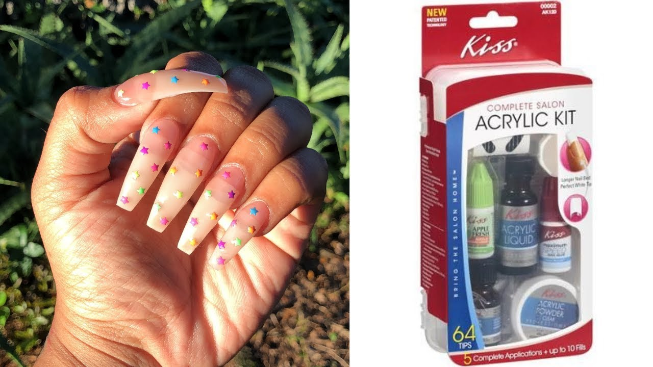 COMPLETE Salon Acrylic Nail Kit For Beginners & Professionals   25$  Professional Nails At HOME